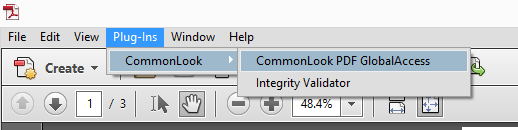 Location of CommonLook PDF GlobalAccess in the Acrobat Plug Ins Folder