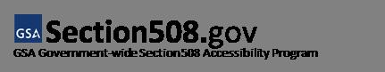GSA Section508.gov logo