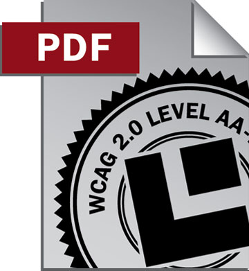 PDF document icon with WCAG 2.0 Level AA seal.