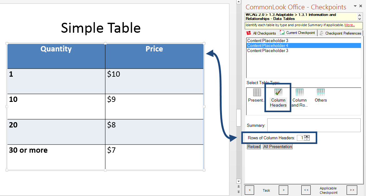 Data Structure Of Tables In Microsoft Powerpoint