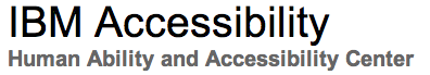 IBM Human Ability and Accessibility Center logo