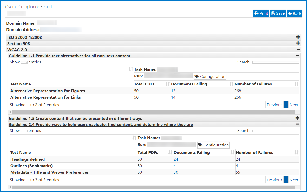 Screen shot of a sample Clarity report. Reports are discussed more in depth in the Quick Start Guide Reports page.