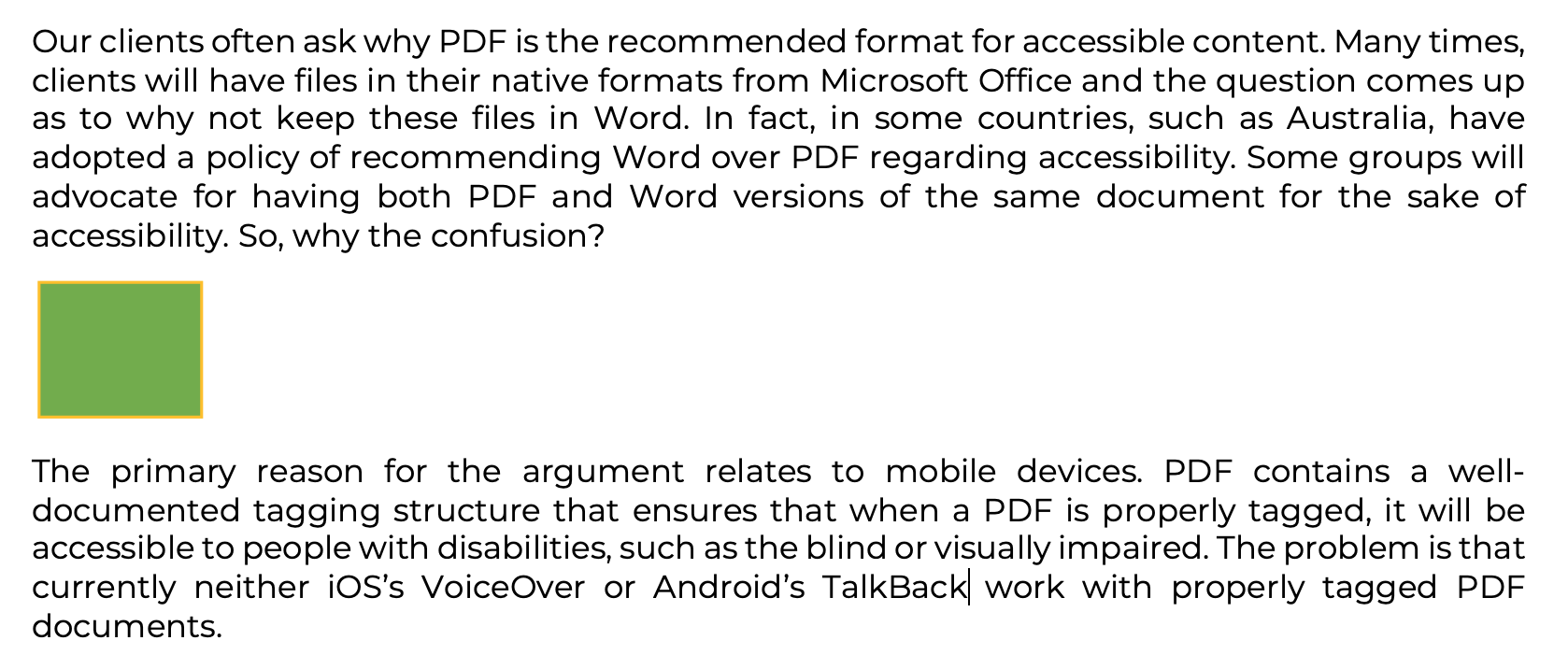PDF vs Word | PDF Accessibility and Compliance