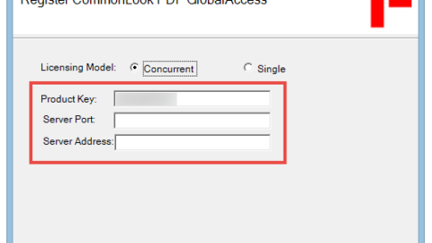 The Register CommonLook PDF GlobalAccess screen with the