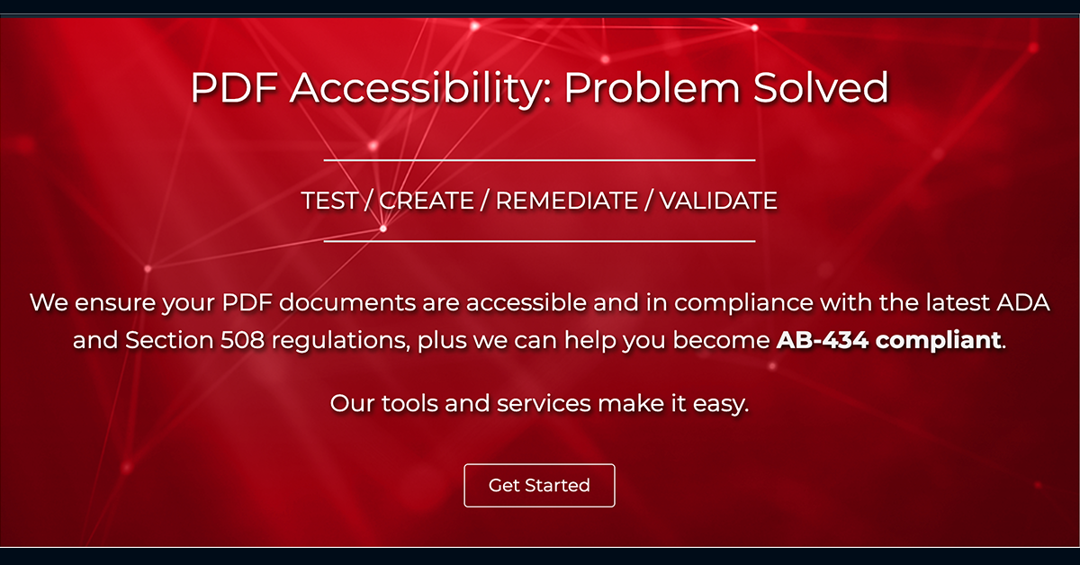 PDF Accessibility and Compliance | The Leader in PDF Accessibility