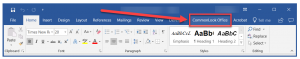 The CommonLook Office tab in the Microsoft Word ribbon