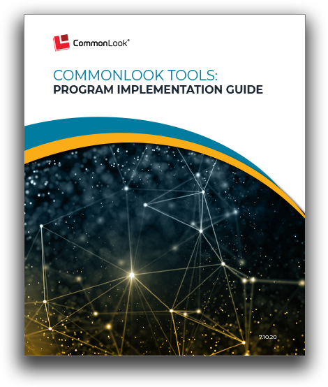 CommonLook Implementation Guide Cover