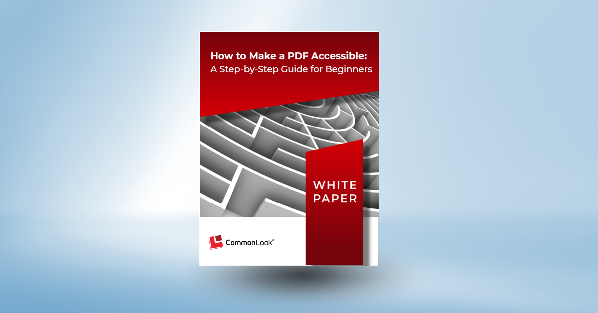 How to Make a PDF Accessible White Paper Cover