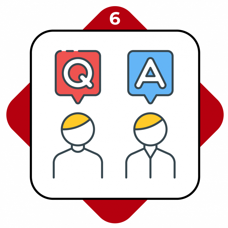 Higher Ed Promo Terms #6 Q&A between two people